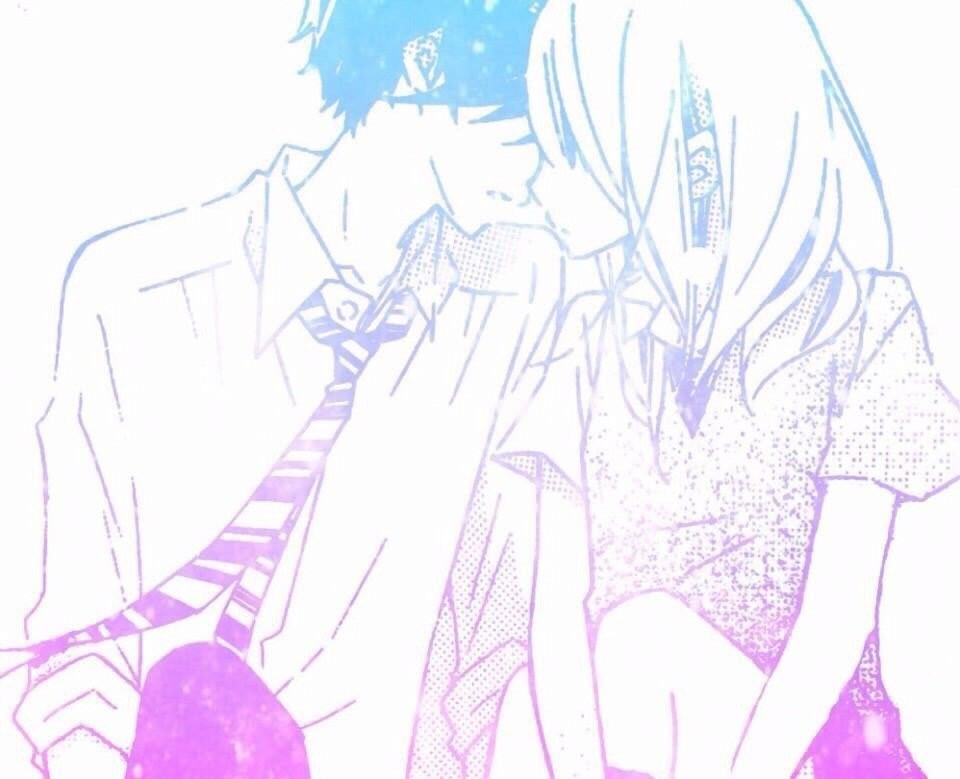 ファンシー柄イラスト×キスする寸前
